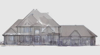 Mixed media point cloud model for pre-design as-builts