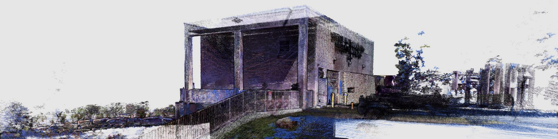 Point cloud model of generating station in Almonte, ON - scanned with Kaarta Contour mobile mapping system